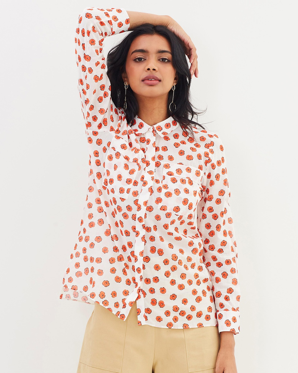 Whistles Mariana Blouse Tops Multicolour Mariana Blouse