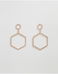 The Hammered Hex Earrings