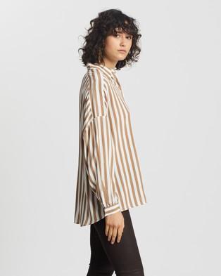 M.N.G Liner2 Shirt - Tops (Brown)