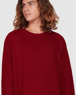 Billabong New Brighton Crew Knit - Jumpers & Cardigans (BLOOD)