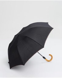 Paul Smith - Multistripe Trim Crook Umbrella