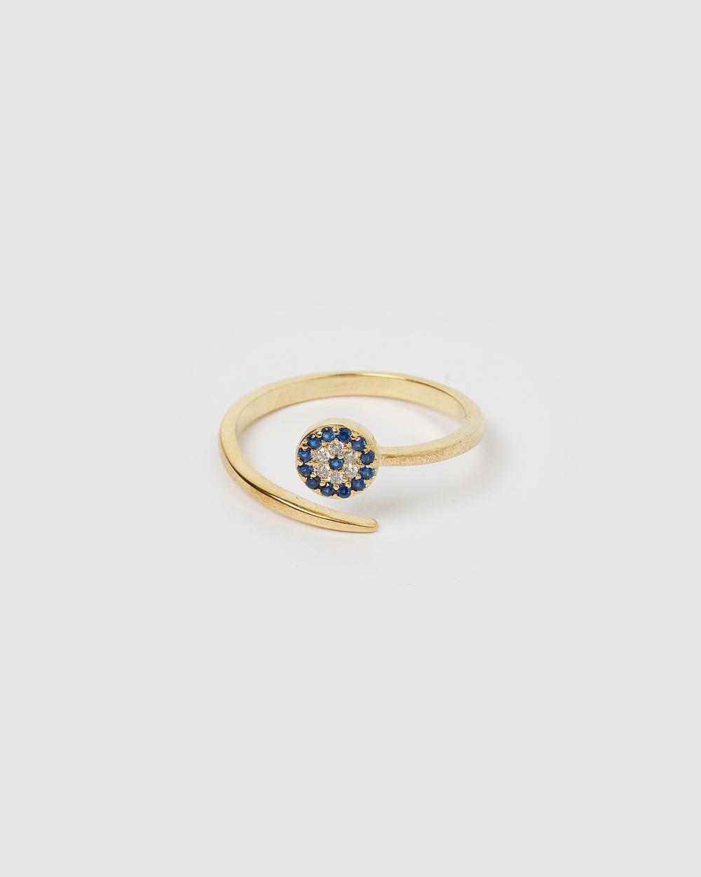 Izoa Hiba Eye Ring Jewellery Gold
