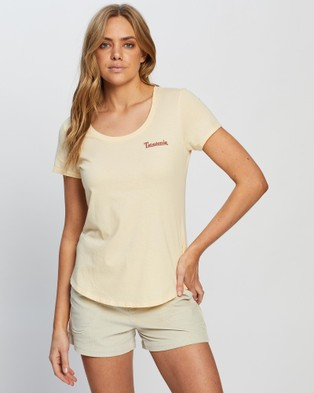 Patagonia Sunset Sets Organic Scoop T Shirt - T-Shirts & Singlets (Vela Peach)