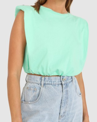 BY.DYLN Ryan Cropped Tank - Cropped tops (Mint)