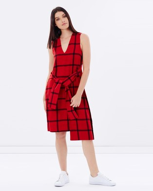 Cheap Monday – Rizzle Check Dress – Dresses (Deep Red)