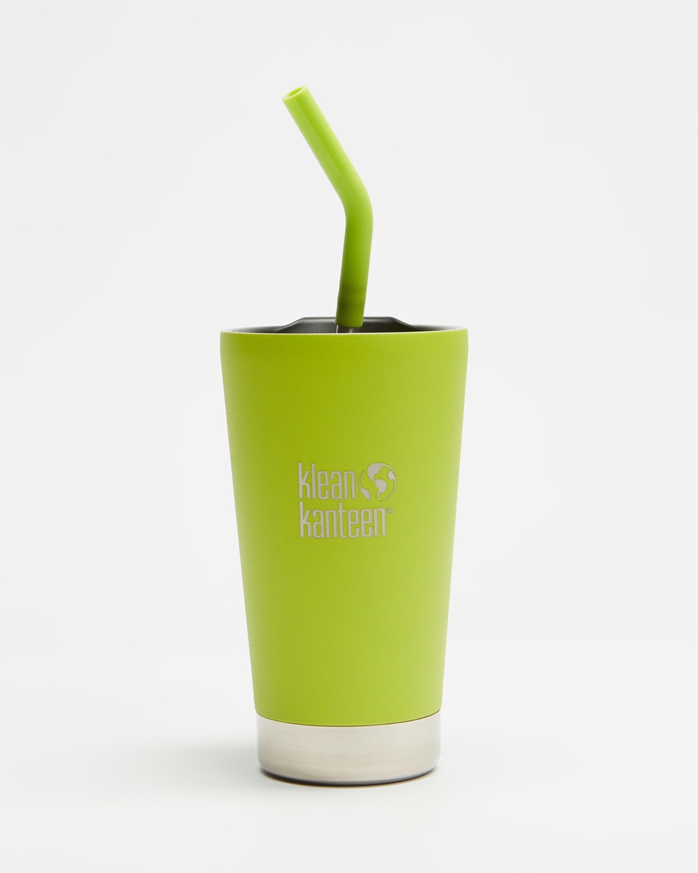 Klean Kanteen 16oz Insulated Tumbler with Straw Lid Running Juicy Pear
