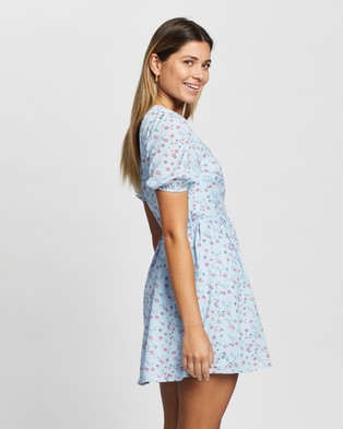 Atmos&Here - Eleo Mini Dress - Printed Dresses (Blue Print) Eleo Mini Dress