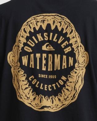 Quiksilver Mens Waterman Jaws Of Life T Shirt - T-Shirts & Singlets (Black)