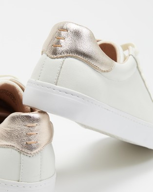 Mollini Session Sneakers - Sneakers (White & Rose Gold)
