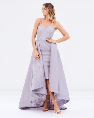 Bariano – Taylor Strapless Ball Gown – Bridesmaid Dresses Grey