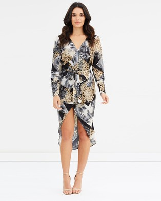 Fresh Soul – Jungle Fever Wrap Dress Spliced Leopard Print