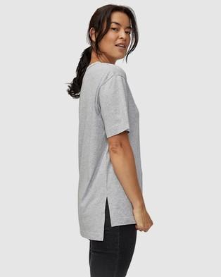 Ceres Life - Organic Oversized Daily Step Hem Tee - T-Shirts & Singlets (Grey Marle) Organic Oversized Daily Step Hem Tee
