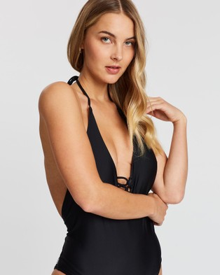 Volcom Simply Solid One Piece Swimsuit - One-Piece / Swimsuit (Black)