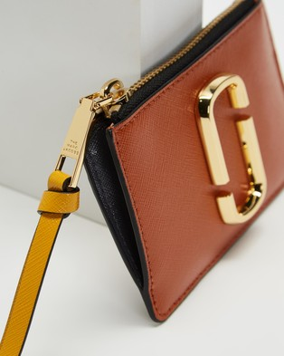 The Marc Jacobs Top Zip Multi Wallet - Wallets (Saddle Brown Multi)