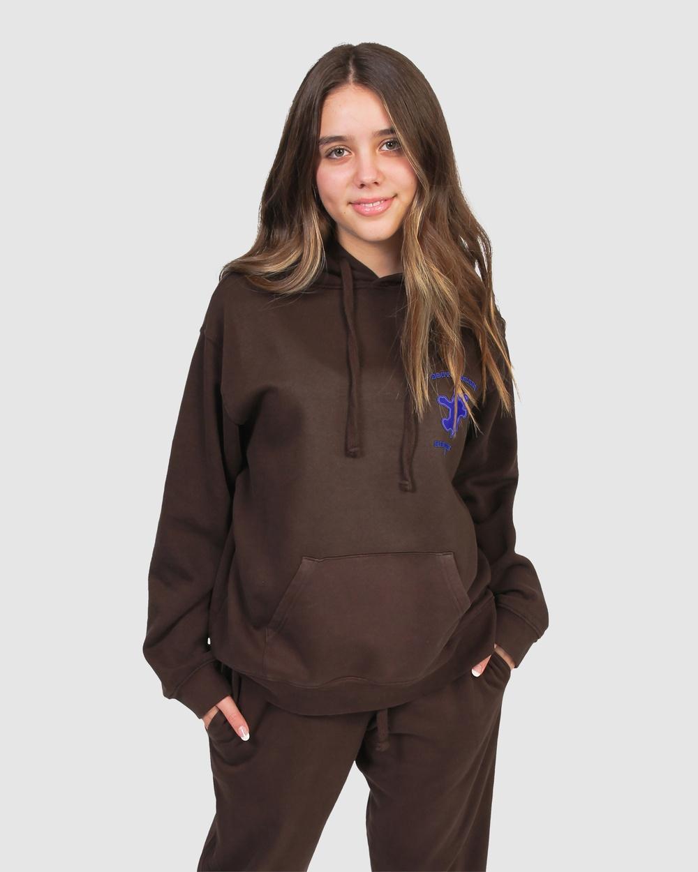Gelati Jeans Kids Bounty Bear Hoodie Sweats & Hoodies Chocolate Brown Australia