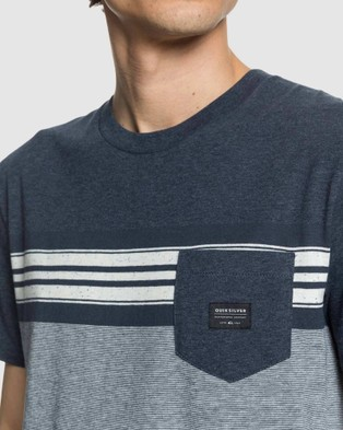 Quiksilver Mens Holy Kiss Pocket T Shirt - T-Shirts & Singlets (HOLY KISS BLUE NIGHT)