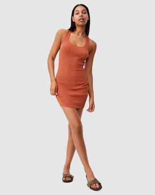 Cotton On Tyra Cross Back Mini Dress - Bodycon Dresses (Warm Bronze)