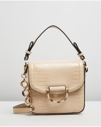 TOPSHOP - D-Ring Flap Bag with Strap