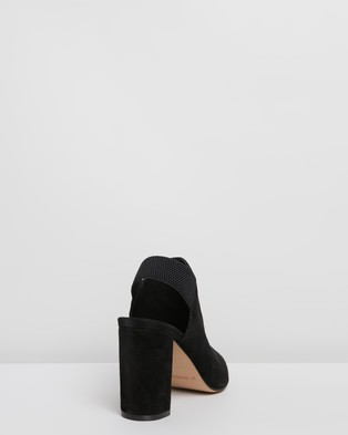 Jo Mercer Rufus Suede Leather Block Heels - Heels (Black Suede)