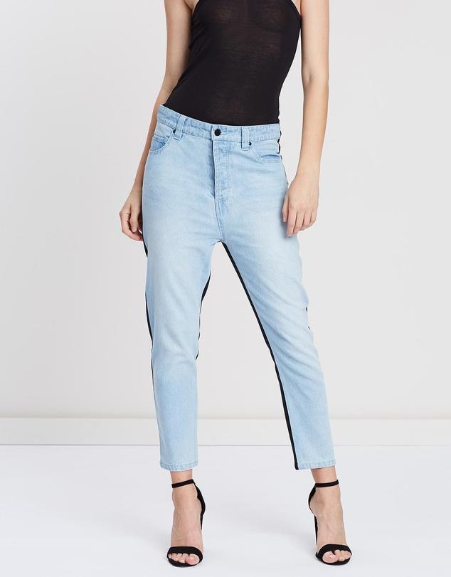 Women Two-Tone Jeans