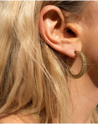 Luv Aj The Amira Hoops Gold