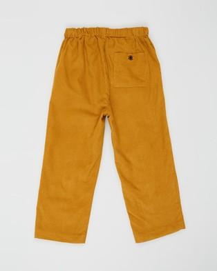 Pappe Ainslee Soft Cord Pants   Babies Kids - Pants (Creamy Mustard)