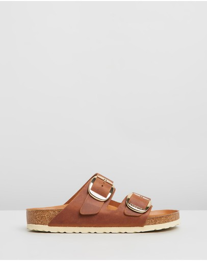 Birkenstock - Unisex Arizona Big Buckle Natural Leather Regular Sandals