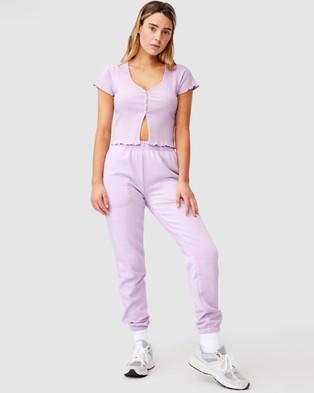 Factorie Short Sleeve Lettuce Cardi - Jumpers & Cardigans (Orchid Bloom)