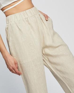 Dazie Little Italy Linen Pants - Pants (Oatmeal)
