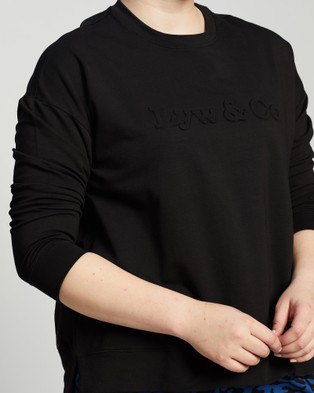 Love Your Wardrobe Lyw & Co Embossed Sweat - Sweats (Black)