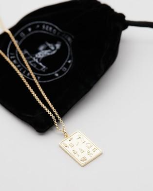 Serge DeNimes Hieroglyph Plaque - Jewellery (Gold)