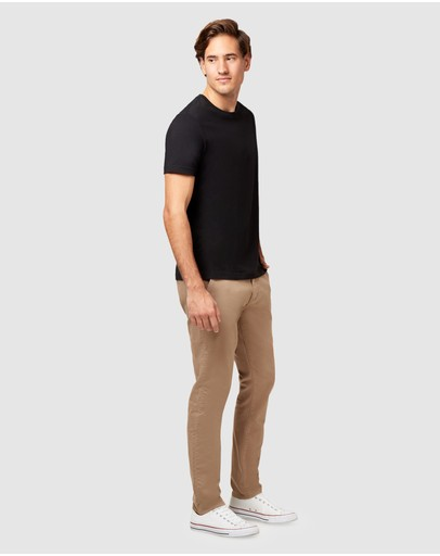 Jeanswest Slim Tapered Coloured Knit Jeans Brown