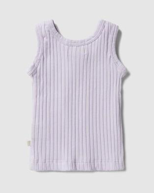 Wilson & Frenchy Organic Rib Tank   Babies - T-Shirts & Singlets (Lavender)