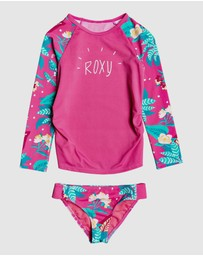 Roxy - Girls 2-7 Magical Sea Long Sleeve UPF 50 Rash Vest Set