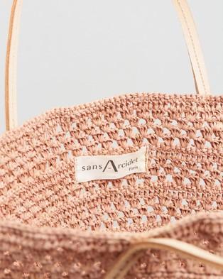 Sans Arcidet Paris Beby Bag Cuir Large - Handbags (Powder Pink)