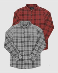 DVNT - 2 Pack Brooklyn Long Sleeve Shirt