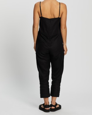 Assembly Label Linen Slip Jumpsuit - Jumpsuits & Playsuits (Black)