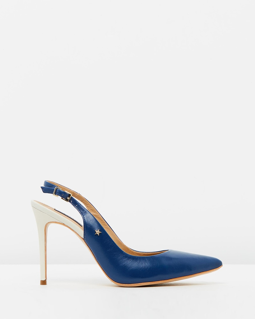 Nina Armando Farah Heels Royal Blue Amp Off White Farah