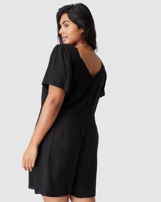 Cotton On Curve Fiona Playsuit - Jumpsuits & Playsuits (Black)