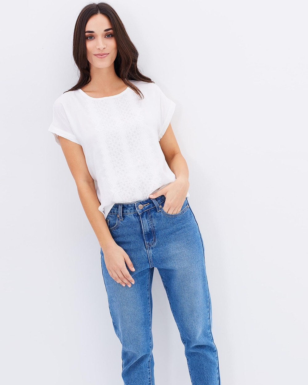Kaja Clothing Jennica Top Tops Off-White Jennica Top