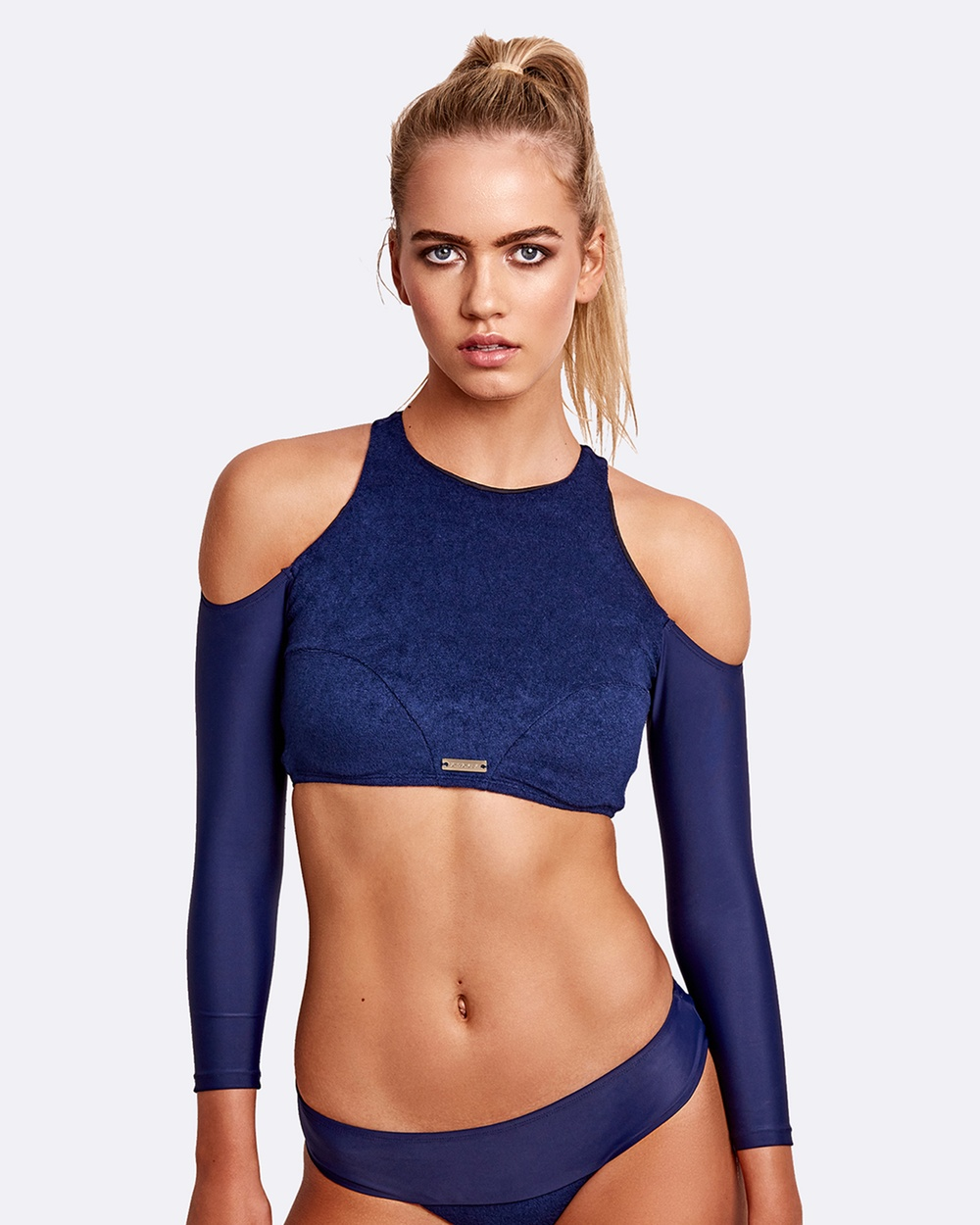 ZINGIBER Capri Long Sleeved Top Bikini Tops Navy Capri Long-Sleeved Top