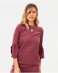 Wilde Willow - Sacred Linen Top