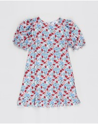 Free by Cotton On - Paris Short Sleeve Dress - Teens