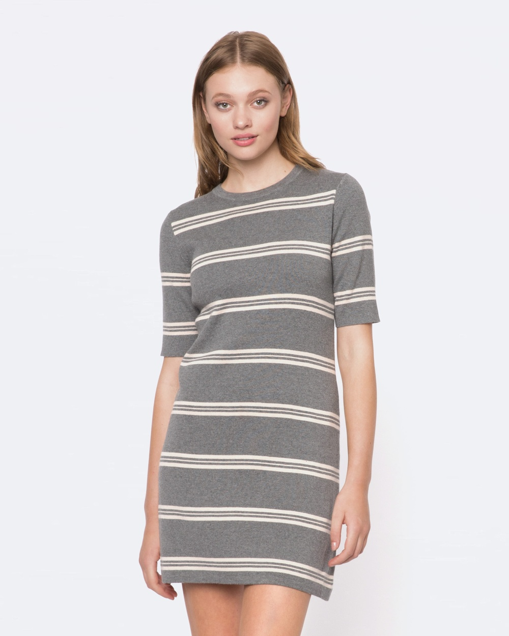 Princess Highway Jackie Knit Dress Printed Dresses Grey Jackie Knit Dress