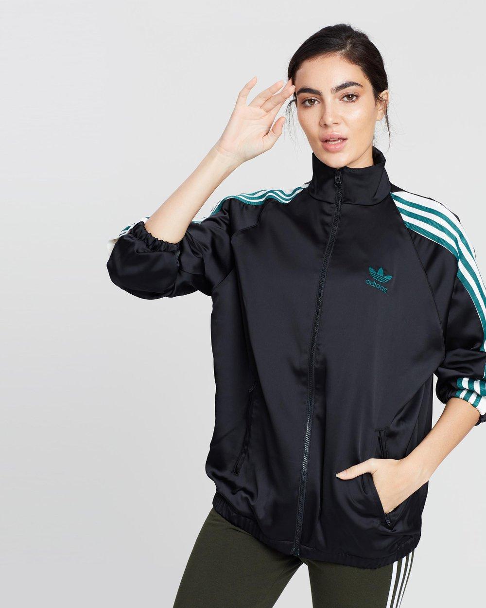 838368c818e8c Adibreak Satin Track Top - Women's by adidas Originals Online | THE ICONIC  | Australia