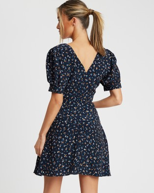 Savel Court Mini Dress - Printed Dresses (Meadow Floral Navy)