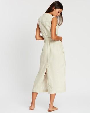BONDI BORN Utility Sleeveless Long Tunic - Dresses (Bone)