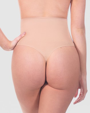B Free Intimate Apparel Power Shaping Thong - Lingerie Accessories (Nude)