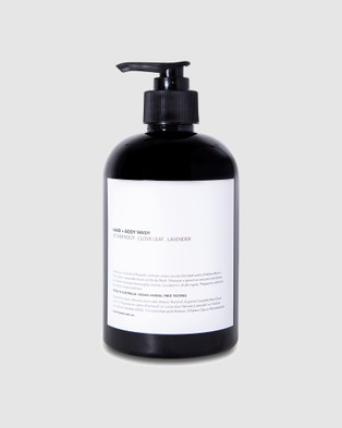 Fazeek Hand & Body Wash   Vetiver Root, Clove Leaf and Lavender - Beauty (White)