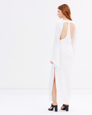 Friend of Audrey – Fly With Me Dress White